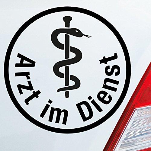 Auto Aufkleber in deiner Wunschfarbe Arzt im Dienst Medizin Rettungsgasse KFZ 10x10 cm Autoaufkleber Sticker Folie (Arzt, Auto-aufkleber)