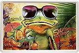 Blechschild Cocktail Frosch Frog Alkohol 20 x 30cm Reklame Retro Blech 1276