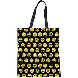 Coloranimal Bolsa de tela y de playa, emoji face-4 (Multicolor) - K-H3575Z22