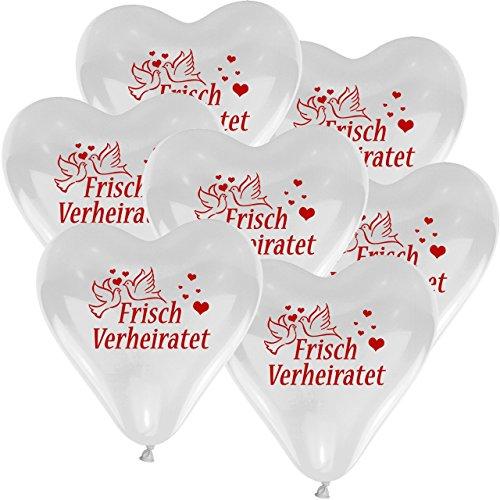 flaschen verschicken 10x Herzballons