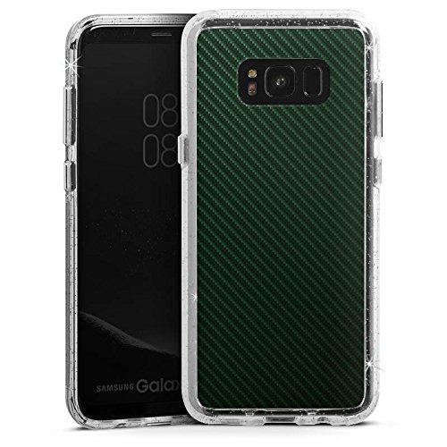 DeinDesign Samsung Galaxy S8 Plus Bumper Hülle Bumper Case Glitzer Hülle Schwarz Black Stripes -