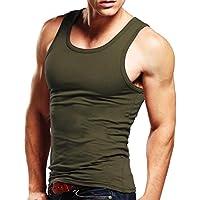 StyleDome Uomo Canotta Sexy Maglietta T-shirt senza