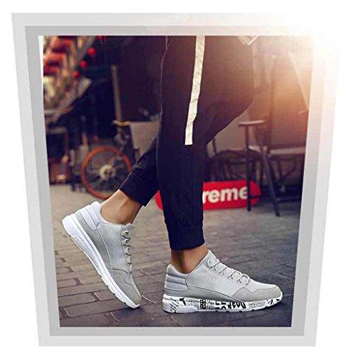 ZXCV Scarpe all'aperto Le scarpe da tennis alla moda delle scarpe da ginnastica degli uomini trasportano scarpe da corsa Nero