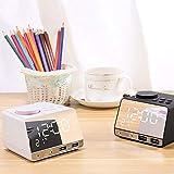 Alarmclocker8B Nuevo Altavoz de Despertador Bluetooth K11 con Puertos USB duales,Conector de Audio Estadounidense para Cargar la Pantalla del Reloj de música Creativa Radio_China