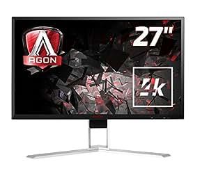 AOC Agon AG271UG 68 cm (27 Zoll) Monitor (HDMI, USB Hub, Displayport, 4ms Reaktionszeit, 60 Hz, 3840x2160, Nvidia G-Sync) schwarz/rot