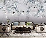 Papier Peint 3D Oiseau Chinois Moderne En Bambou Marbré Peinture Décoration Murale...