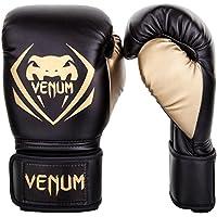 Venum Contender Guantes de Boxeo, Unisex Adulto, Negro/Dorado, 12 Oz