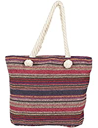 Beautiful Multicolor Stripes Patterened Hand Bag For Mother's Day