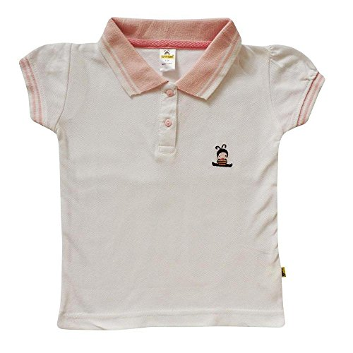 Tiny Bee Apparels Girl's Cotton Polo Tees(4-5years)
