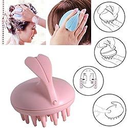 Peigne de massage en silicone pour cheveux par Bescita - Appareil électrique masseur du cuir chevelu