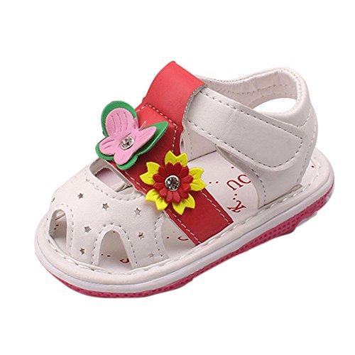 Babyschuhe, Switchali Baby schuhe mädchen Blumen-lederner Schuh-Turnschuh Anti-Rutsch weiches Solekleinkind für 0-36 Monate Weiß