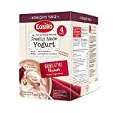 EasiYo Indulgence 4er-Pack Joghurtmischung Rhabarber nach griechischer Art