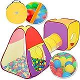 KIDUKU® 3-teiliges Bällebad Spielzelt Babyzelt