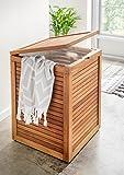 Destiny Wäschebox Badezimmer Wäschetruhe Teak Teakholz Truhe Design Wäsche Box