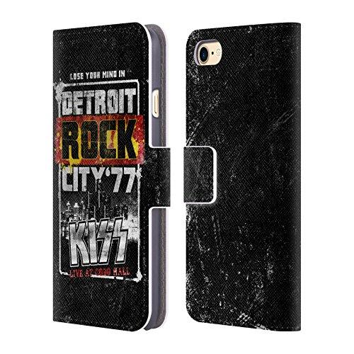 Ufficiale KISS Detroit Giro 2 Cover a portafoglio in pelle per Apple iPhone 6 / 6s Detroit Rock City 77