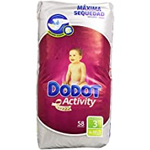 Dodot - Pañales para bebés Activity - Talla 3, 4-10 kg - 58 unidades