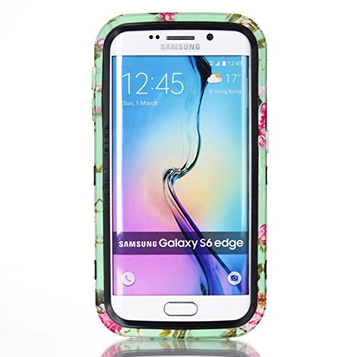 Galaxy S6 Edge Hülle, FIREFISH 3 in 1 Hybride Heavy Duty Shockproof Schutzhülle Hard PC Soft TPU Stoßfänger Dual Layer Fall für Samsung Galaxy S6 Edge Schwarz