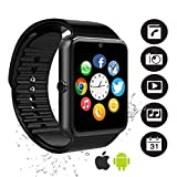 Bluetooth Smartwatch, YAPMOR Smart Armbanduhr Kompatibel mit Android/IOS, Fitness Tracker Armband Sportuhr mit Alarm/Schlaf Analyse/Romte Capture/Kamera Schuss/GPS Route Tracking (GT08)