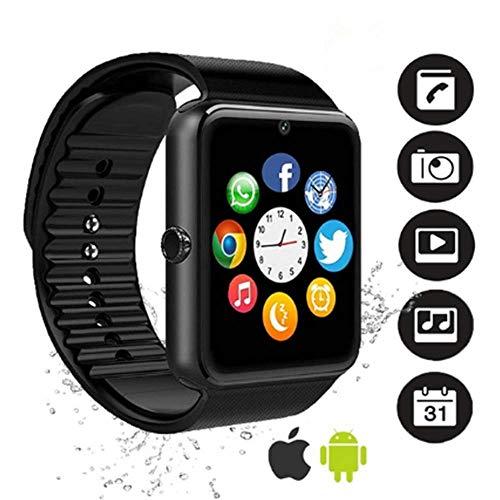 Bluetooth Smartwatch, YAPMOR Smart Armbanduhr Kompatibel mit Android/IOS, Fitness Tracker Armband Sportuhr mit Alarm/Schlaf Analyse/Romte Capture/Kamera Schuss/GPS Route Tracking (GT08)