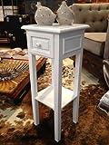 Telefontisch Beistelltisch Konsolentisch Nachttisch antik weiß shabby Landhaus
