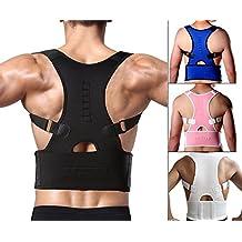 Corrector de Postura Ajustable Soporte de la espalda y Alivio del Dolor de Espalda, Mejorar la Postura para Mujer y Hombre Negro Medium