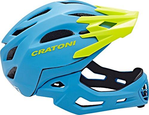 Cratoni Fahrradhelm C-Maniac, Blue/Lime Matt, 58-61 cm, 112406B3 - 4