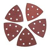 Granos de arena, 100 unids 80 mm papel de lija triangular + 1 almohadilla de arena para herramienta multifunción oscilante Fein de Bosch