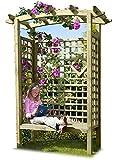 Gartenpirat Pergolensitz als Gartenlaube mit Gartenbank und Dach aus Holz