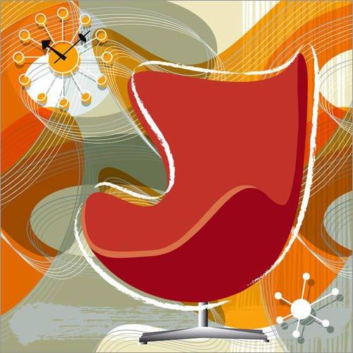 Posterlounge Alu Dibond 120 x 120 cm: Egg Chair von Thomas Marutschke