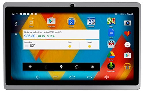DOMO Slate X15 Quad Core Processor 8GB Edition with 1GB RAM and Dual Camera Tablet PC Kitkat 4.4.2, 3G via Dongle + Wifi