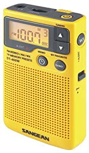 Sangean DT-400W AM/FM Digital Weather Alert Pocket Radio Portable Consumer Electronic Gadget Shop