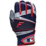 Franklin Sports 20816F1 Youth Free Flex Pro Series Batting Gloves, Gray/Navy, Small