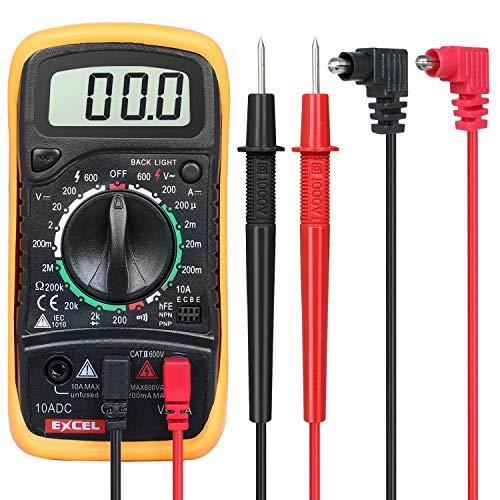 Multímetro digital voltímetro, amperímetro, AC, DC, ohmímetro 19 rangos de conectividad