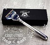 Gillette Fusion Men's Razor Designer Stainless Steel Handle comes in Gift Box