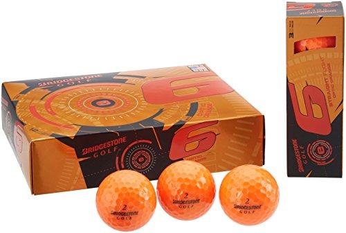 Bridgestone Golfball E6 Web Dimple Technologie, Orange, M, 1b5e6o (Bridgestone Orange Golfbälle)