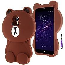Meizu M2 Note Funda Case, Moonmini® 3D encantador Bear Funda Carcasa de Silicona para Meizu M2 Note - Meizu M2 Nota