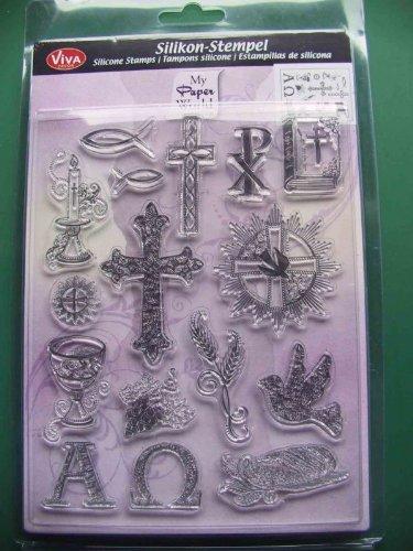 "Silikonstempel ""Christliche Symbole"" 14 x 18 cm"