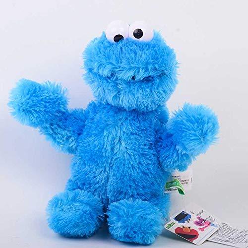 prbll Puppe Plüsch Spielzeug, Cookies Monster große Vogel Puppen, Geburtstagsgeschenke, weibliche Puppen Der große Sitz ist 40 cm hoch. Cookie Monster Sesam Straße echt