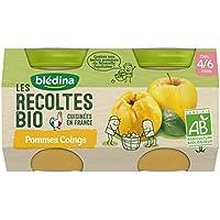 Blédina les Récoltes Bio 2 Petits Pots Pommes Coings 260 g -