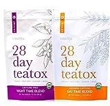 Vida Essentials Tag und Nacht Detox Tee - Teatox (56 Teebeutel) - Bio-Antioxidant Gewichtsverlust...