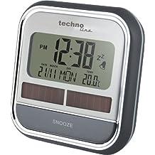 TechnoTrade WQ 140, 100 x 46 x 100 mm, AAA, Gris, Plata - Despertador