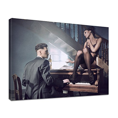 Leinwandbild Erotik Piano Bar 2 Farbe color, Größe 80 x 60 cm