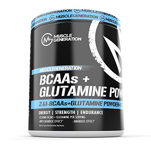 Musclegeneration Glutamine + BCAA-Powder 400g | Cola Lemon