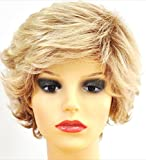 Forever Young Ladies Short Light and Ash Blonde Mix Lifting Fashion Wig with Rolling Curls