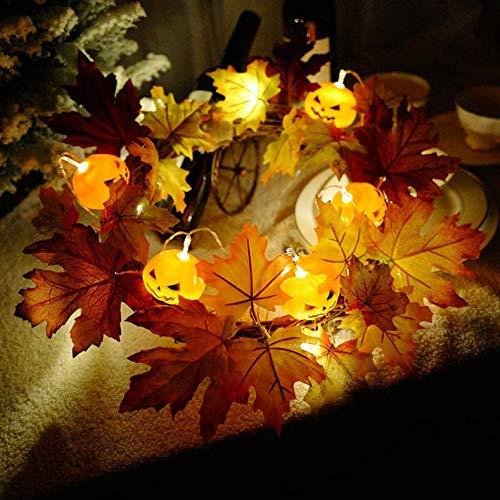 Yirenfeng Halloween-Laterne, LED Kürbislaterne, Schnur, Blume Und Ring, Hängende Verzierung Der Tür, Geschäftsstange, Fensterplan,