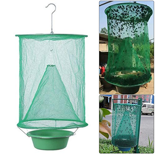 housesweet Drosophila Fliegenfalle Catcher Net Insekt Bug Pest Flycatcher Hanging Killer für Outdoor Patio Garden (Net Killer)