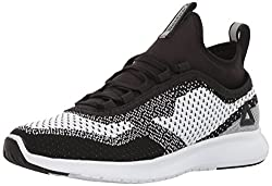 Reebok Womens Plus Runner Ultk Running Shoe, Black/White, 11. 5 M US