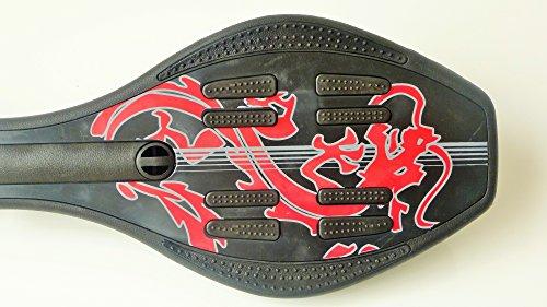 Waveboard Flexboard Casterboard - schwarz- inkl. Tasche + LED Rollen -