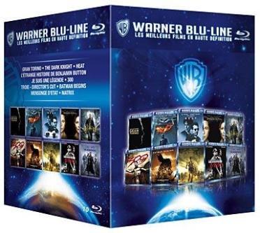 Coffret 10 films Warner Blu-line : Gran Torino, The Dark Knight, Je suis une légende, Benjamin Button, 300, Troie, Batman Begins, Heat, Matrix, Mensonges d'état [Blu-ray]