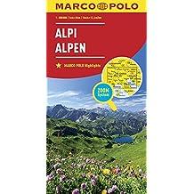 Alpy mapa: MARCO POLO Länderkarte Alpen 1:800 000 (MARCO POLO Länderkarten)